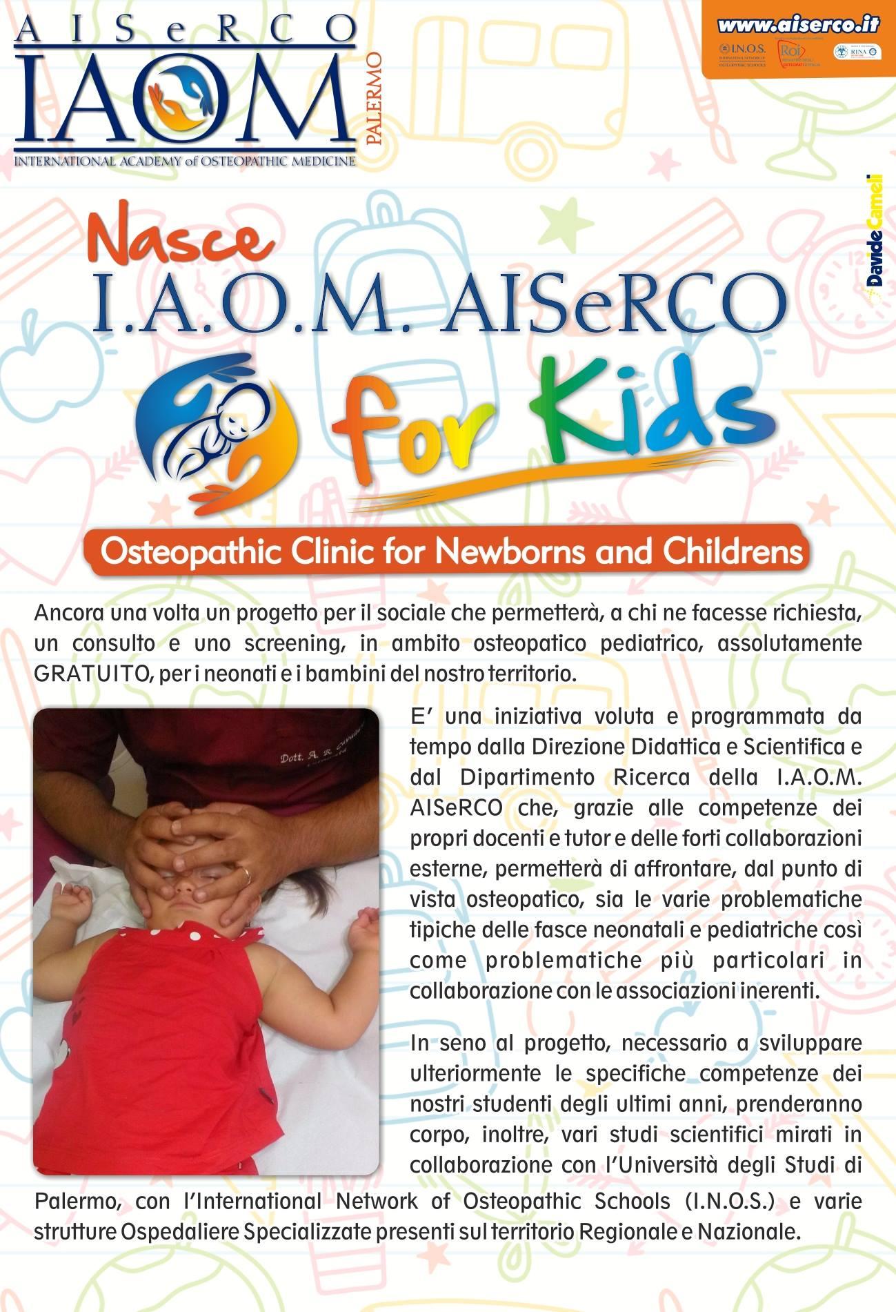 Osteopatia Pedriatica Palermo IAOM AISeRCO